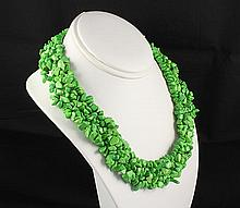 Woven Multi-Strand Natural Chip Beads Necklace - L23427