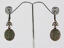 Natural Stone Antique Design Dangle Earring - L23071