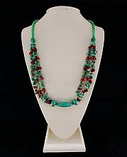 Gushing Sky Blue Turquoise 403.00ctw Beads Necklace - L22129