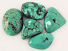 Natural Turquoise 165.33ctw Loose Small Gemstone Lot of 5 - L21302