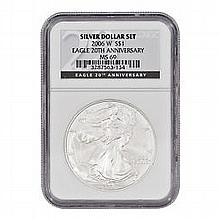 2006-W (Burnished) Silver American Eagle MS-69 NGC - L22755