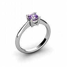 Amethyst 0.40ctw Ring 14kt White Gold - L10956