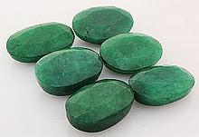 194.55ctw Faceted Loose Emerald Beryl Gemstone Lot of 6 - L20435