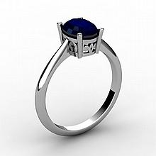 Sapphire 1.00 ctw Ring 14kt White Gold - L15244