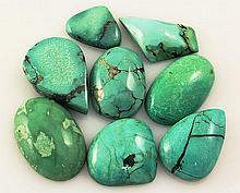 Natural Turquoise 160.80ctw Loose Small Gemstone Lot of 8 - L21294