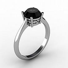 Black Diamond 1.25 ctw Ring 14 kt White Gold - L15197