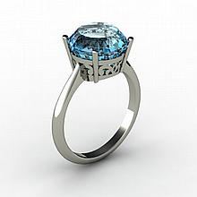 Topaz 5.75 ctw Ring 14kt White Gold - L15221