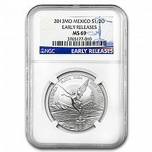 2013 1/2 oz Silver Libertad MS-69 NGC (ER) - Registry Set - L24937