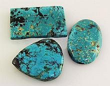 Natural Turquoise 186.18ctw Loose Gemstone 3pc Big Size - L21161