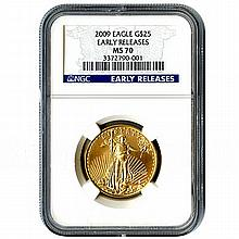 Certified $25 American Gold Eagle 2009 MS70 NGC - L18103