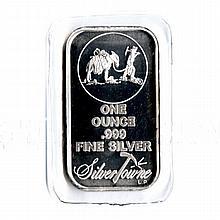 Silvertowne Silver Bullion 1 oz Bar .999 fine - L18014