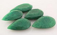 169.06ctw Faceted Loose Emerald Beryl Gemstone Lot of 5 - L20413