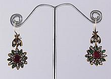 Natural Stone Antique Design Dangle Earring - L23094