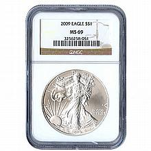 Certified Uncirculated Silver Eagle 2009 MS69 - L17958