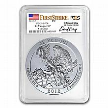 2012-P 5 oz El Yunque SP-70 First Strike PCGS Edmund Moy Label - L24892