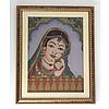 Indian Princess Gemstone Painting w/ Frame - L10868