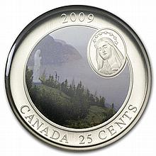 2009 Canadian $0.25 Notre-Dame-Du-Saguenay - Coloured Coin - L28294
