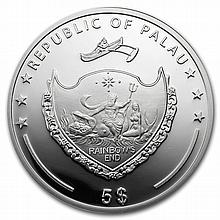 Palau 2013 Silver $5 Marine Life Protection - Secrets of the Sea - L27461