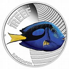 2012 1/2 oz Proof Silver Surgeonfish - Sea Life II Series - L26390