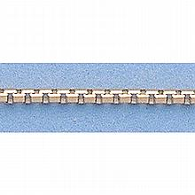 Pure Gold 16 14kt Italian Gold-Yellow 1.4mm, 8 Sided Box Chain Gauge:24, 4.3gr - L11212