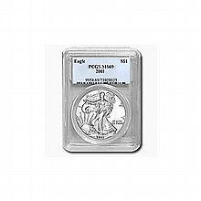 2001 1 oz Silver American Eagle MS-69 PCGS - L22930