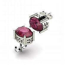 Ruby 2.12ctw Earring 14kt White Gold - L11100
