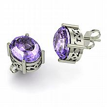 Tanzanite 5.00ctw Earring 14kt White Gold - L11126