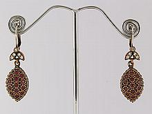 Natural Stone Antique Design Dangle Earring - L23069