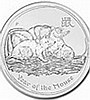 2008 2 oz Silver Lunar Year of the Mouse (Series I) - L25106