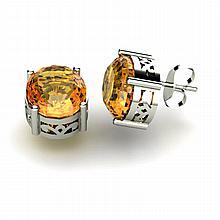 Citrine 4.80ctw Earring 14kt White Gold - L11131