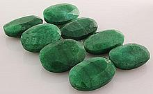 298.63ctw Faceted Loose Emerald Beryl Gemstone Lot of 8 - L20459