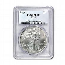 1994 1 oz Silver American Eagle MS-68 PCGS - L22485