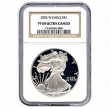 Certified Proof Silver Eagle PF69 2003 - L17992