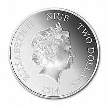 2014 1 oz Gilded Silver Coin $2 Lunar Horse (w/Box & CoA) - L28352