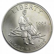 1995-S Civil War Half Dollar Clad Commem MS-70 PCGS - L27826