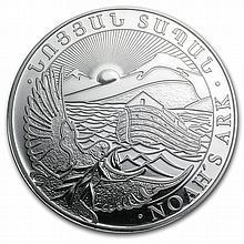 2013 1 oz Silver Armenia 500 Drams Noahs Ark Coin MS-69 PCGS - L29606