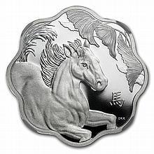 2014 Silver Canadian $15 Lunar Lotus Horse - PF-70 UCAM NGC - ER - L28481