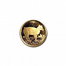 Gold Cats: Isle Of Man : One 25th Ounce 1988 - L18428