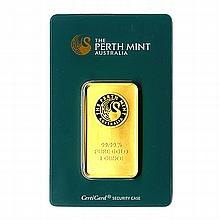 Gold Bars: Perth Mint One Ounce Gold Bar - L21629