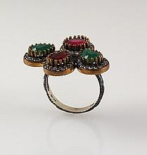 Natural Stone Cocktail Victorian Design Ring - L23160