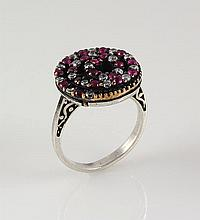 Natural Stone Statement Victorian Design Ring - L23182