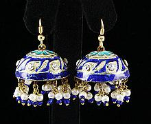 11.57GRAM INDIAN HANDMADE LAKH FASHION EARRING - L19325