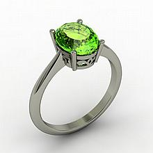 Peridot 2.00 ctw Ring 14kt White Gold - L15266