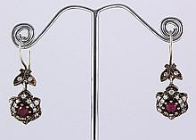 Natural Stone Antique Design Dangle Earring - L23088