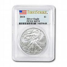 2010 1 oz Silver American Eagle MS-70 PCGS - L22705