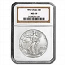 1992 Silver American Eagle (NGC MS-69) - L22727