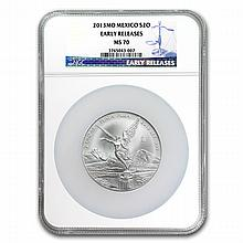 2013 2 oz Silver Libertad MS-70 NGC (ER) - Registry Set - L24925