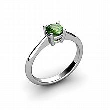 Tourmaline 0.45ctw Ring 14kt White Gold - L10967