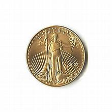 One-Tenth Ounce US American Gold Eagle Uncirculated - L18083