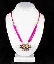 18.51GRAM INDIAN HANDMADE LAKH FASHION NECKLACE - L19311